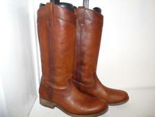 Frye Beautiful Cognac Brown Leather Cowboy Boots EUC 5.5M