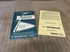 livret carnet entretien mobylette AV3 AV76 + certificat de garantie motobécane