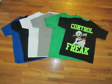 new LOT of 6 t-shirts BOY S 6-7 plain solid colors mix & match crew tee