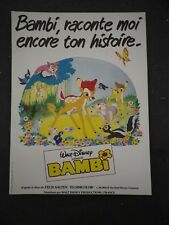 BAMBI - WALT DISNEY -  Synopsis 1970/80 , 8 pages