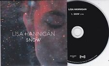 LISA HANNIGAN SNOW 1 TRACK PROMO CD [AT SWIM]