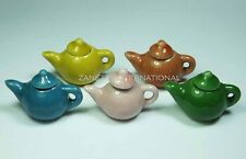 5 Mixed Dollhouse Miniature Ceramic Teapots * Doll House Mini Kitchen Tea Pot