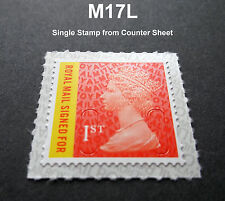 2017 1st CLASS SIGNED FOR M17L MACHIN SINGLE STAMP from Counter Sheet