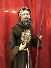 San Francesco Di Paola 55 Cm Minimi Santo Scultura Napoletana