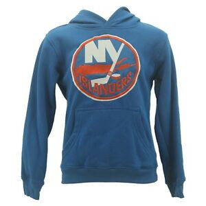 Reebok NHL New York Islanders Youth Sweatshirt Face Off Official Stitched Logo