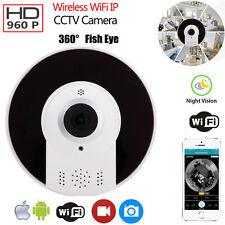 960P HD 360 Degree Fisheye WiFi IP Camera Security P2P Network IR Night Vision