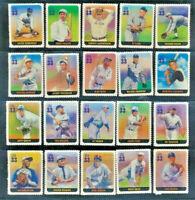 Baseball Legends Mint NH Set of 20 Singles Cplt Ruth, Gehrig, Paige, Cobb, #3408