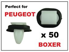 50 x PEUGEOT BOXER EXTERIOR SIDE MOULDING LOWER DOOR TRIM RUB BUMP STRIP CLIPS
