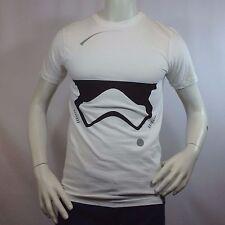 Men's T-shirt STAR WARS Tee STORM TROOPER Helmet The Force Awakens White Small S