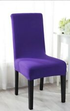 PURPLE Chair Cover Removable Stretchy Slipcover Dining Room Chair Protector