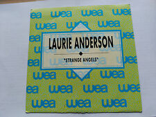 SINGLE PROMO LAURIE ANDERSON - STRANGE ANGELS - WB SPAIN 1989 VG+