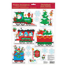 Christmas Train Window Sticker Decorations