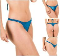 Coqueta TEENY Metallic Swimwear Swimsuit Women's Bottom Thong Bikini New Ocean