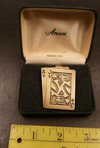 Vintage Anson Blackjack Money Clip in Original Box Made in USA