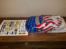 ofna ld3 custom painted body usa flag serpent mugen 200mm 4tec drifter sedan