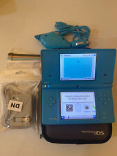 Nintendo DSi Video Game Console Light Blue WiFi Car+Wall Charger+4 Free Stylus