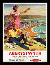 Aberystwyth Where Holiday Fun Begins - Framed 30 x 40 Official Print