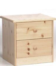Holz Kommode Kiefer massiv mit 2 Schubladen und Einlegeboden