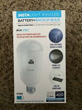Blue Sky INSTALIGHT 4-in1 Multi-function Battery+Backup bulbs NEW!