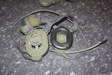 DUAL HEADSET PRC 343 SELEX BOWMAN PRR PERSONAL ROLE RADIO H4855