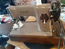 vintage singer 201k electric sewing machine Service sews leather  em01452