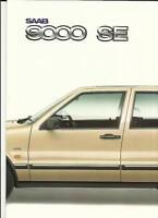 SAAB 9000 SE   SALES BROCHURE PLUS 'WALLET' MID 80's