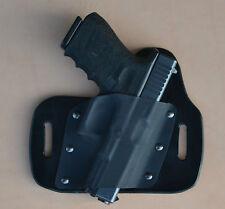 leather/kydex hybrid OWB beltslide holster Glock 30s