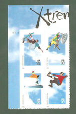 3321-24 Extreme Sports Top Plate Block Mint/nh FREE SHIPPING