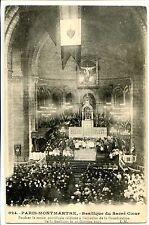 CP 75 PARIS - Montmartre - Sacré-Coeur - Messe Pontificale 16 octobre 1919