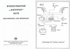 Bedienung VEB IFA Traktor Schlepper Aktivist RS 03/30 03 Brandenburg Anleitung