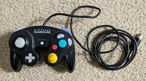 Nintendo GameCube Black Controller Official Controller - Acceptable - Some Drift