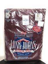 Morgan Mills Long Johns Pioneer Spirit Men M Thermal Wear Maroon Long Sleeve