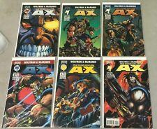 MALIBU COMICS MAN CALLED A-X 0, #1-5 COMPLETE MINI SERIES RUN BRAVURA