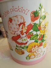 Vintage Strawberry Shortcake Pink Tin 1982 American Greetings-Fun for the pickin