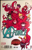 A-Force #1 Secret Wars Marvel Comics Skottie Young Variant NM