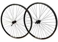 700c Hybrid Bike PAIR Mach 240 Rims Front & Rear Joytech ScrewOn Black Spokes