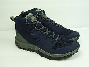 Salomon Men's Outline Mid GTX Blue/Grey Hiking Shoes Size 11
