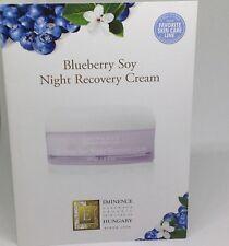 EMINENCE BLUEBERRY SOY NIGHT RECOVERY CREAM TRAVEL 12  PACKS ORGANIC SKINCARE