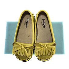 PABDER BAMBINI MUSTARD LEATHER BABY LOAFERS SHOES - LIKE NEW
