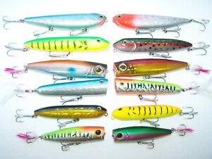 25% OFF PLUS FREE SHIPPING ON NEW TOP WATER 12 PC ASST OF LARGE KILLER LURES!!