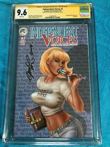Independent Voices #2 - Peregrine - CGC SS 9.6 NM+ - Signed by Joe Linsner