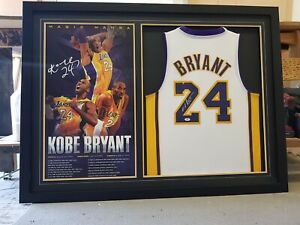 Kobe Bryant Signed Jersey Framed