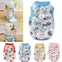 Pet Dog Clothes Summer Shirt Small Puppy Cat Sleeveless Striped Vest Apparel