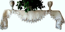 """Shelf Mantel Scarf  90""""x 19""""  EARTH Doily FEATHER LACE Mantle"""