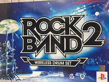 Rock Band 2 Wireless Drum Set for PS3 PS2 NEW OPEN BOX - 19164