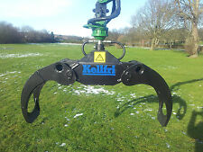 log grapple 21 & rotator Kellfri £ 780.00 + Vat digger tractor mini excavator
