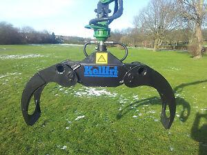 Log grab grapple 21 & rotator Kellfri £975.00+Vat digger tractor mini excavator
