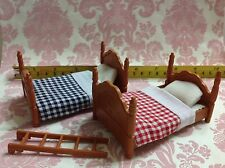 Dollhouse Miniature Generic Furniture Plastic Bedroom Bed Set (Sylvanian Size)