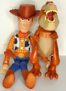 Disney Pixar Toy Story Dinosaur Butch Poseable Action Figure And Plush Woody Lot