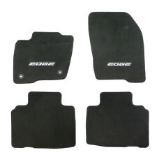 "OEM NEW 2015-2018 Ford Edge Embroidered Carpet Floor Mats, BLACK w/ ""Edge"" Logo"